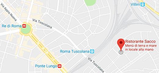 Mappa per Sacco Ristorante